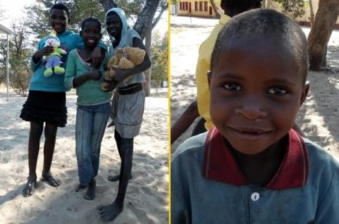 kinderen van het kindertehuis in Namibië van Stichting Children's Home Kitty.