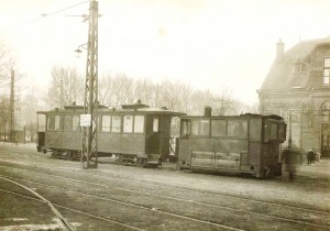 Stoomtram Soendaplein 1920 met extra sporen